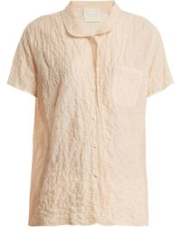 Loup Charmant - Camper Short-sleeved Striped Cotton Shirt - Lyst