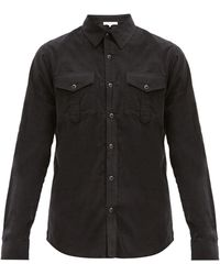 FRAME コットンブレンドポプリンシャツ - ブラック