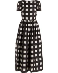 Christopher Kane - Zip Hem Square Print Silk Dress - Lyst