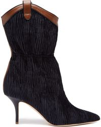 8cfc9a9a8d7 Malone Souliers - Daisy Velvet And Leather Ankle Boots - Lyst