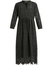 Queene And Belle - Nina Broderie-anglaise Cotton Dress - Lyst