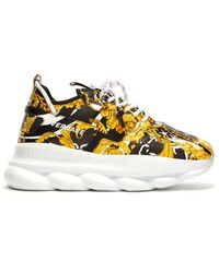 Versace Chain Reaction 2 Leather Sneaker - Multicolour