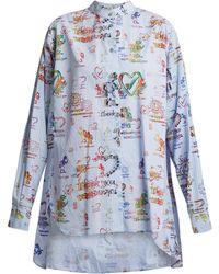 Vivienne Westwood Anglomania - Grateful-print Cotton Circle Shirt - Lyst