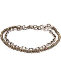Title Of Work Pyrite And Ruby Wraparound Bracelet - Metallic
