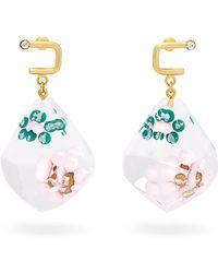 Marni - Floral Drop Earrings - Lyst