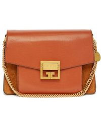 Givenchy Gv3 Mini Suede And Leather Cross-body Bag - Brown