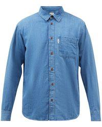 Nudie Jeans へッべ デニムシャツ - ブルー