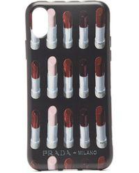 Prada Lipstick-print Rubber Iphone Xs Max Case - Multicolour