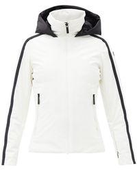 Fusalp シドニー ストライプ スキージャケット - ホワイト