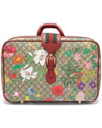 Gucci 'flora' Printed Suitcase - Multicolour