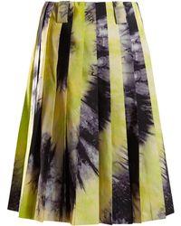 Prada - Tie Dye Silk Faille Skirt - Lyst