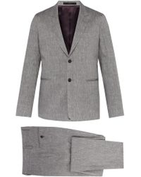 Paul Smith Soho Tailored Fit Wool And Linen Blend Suit - Gray