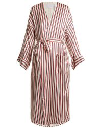 Beautiful Bottoms - Striped Sandwashed-silk Robe - Lyst