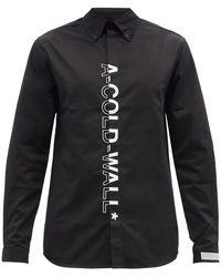 A_COLD_WALL* * ロゴ コットンポプリンシャツ - ブラック