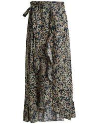 Étoile Isabel Marant - Alda Floral-print Wrap Skirt - Lyst
