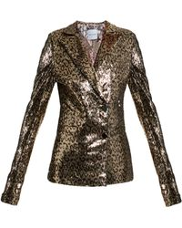 Halpern - Sequin-embellished Notch-lapel Blazer - Lyst
