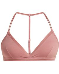 Skin - Orla Stretch Pima Cotton Soft Cup Bra - Lyst