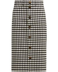 Balenciaga - Vichy Gingham Pencil Skirt - Lyst