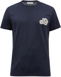 Moncler ロゴ コットンtシャツ - ブルー