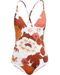Dodo Bar Or Maillot de bain à imprimé floral Tata - Multicolore