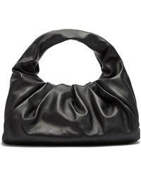 Bottega Veneta The Shoulder Pouch Small Leather Bag - Black