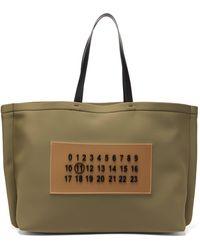 Maison Margiela Outline Embossed-logo Neoprene Tote Bag - Multicolor