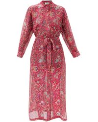 Etro Giannutri Paisley-print Cotton-blend Shirt Dress - Pink