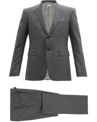Thom Browne ウールツイル シングルスーツ - グレー
