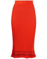 Altuzarra | Gwendolyn Ribbed-knit Midi Skirt | Lyst