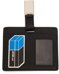 Prada - Saffiano-leather Clip-on Cardholder Badge - Lyst