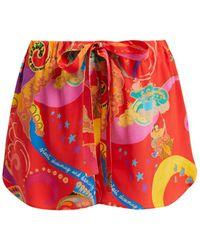 Etro - Abstract Print Silk Shorts - Lyst