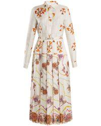 Gabriela Hearst - Rosa Spread-collar Psychedelic-print Silk Dress - Lyst