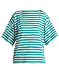 Marni - Boat-neck Striped Cotton Top - Lyst