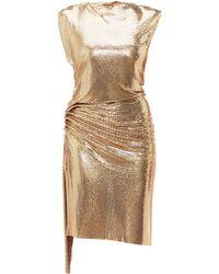 Paco Rabanne Gathered Chainmail Dress - Metallic