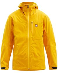 66 North Snaefell Goretex Shell Hooded Jacket - Yellow