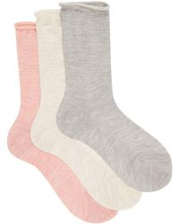 Raey - Pack Of Three Roll Top Silk Socks - Lyst