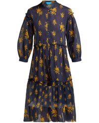M.i.h Jeans - Lyra Floral Print Cotton Dress - Lyst