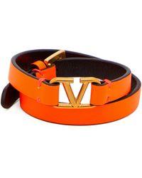Miansai Bracelet en silicone à charm B Maldives - Jaune