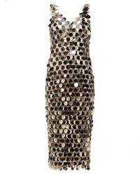 Paco Rabanne Sequinned Chainmail Dress - Metallic