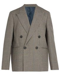 Wooyoungmi - Prince Of Wales-checked Wool Blazer - Lyst