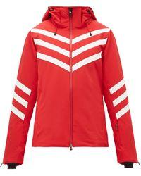 Perfect Moment Chevron-striped Technical Ski Jacket - Red