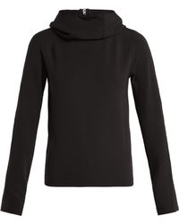 Paco Rabanne - Logo Ribbon Funnel Neck Hooded Top - Lyst
