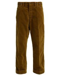 Chimala - Cinched-waist Corduroy Trousers - Lyst