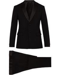Prada Two-button Virgin Wool-blend Tuxedo - Black