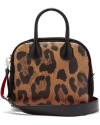 Christian Louboutin - Marie Jane Leopard Print Leather And Suede Bag - Lyst