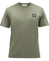 Stone Island ロゴ コットンtシャツ - グリーン