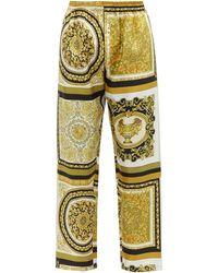 Versace バロック シルクツイル パジャマパンツ - マルチカラー
