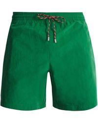 Stella McCartney - Contrast Tie Straight Leg Swim Shorts - Lyst