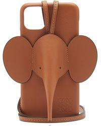 Loewe エレファント レザー Iphone 11 Pro Max ケース - ブラウン