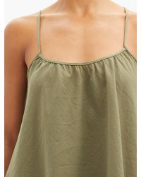Loup Charmant Scoop-neck Organic-cotton Cami Top - Green